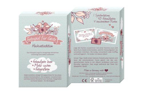 Dekorative Kartenbox mit 50 Fotoaufgaben