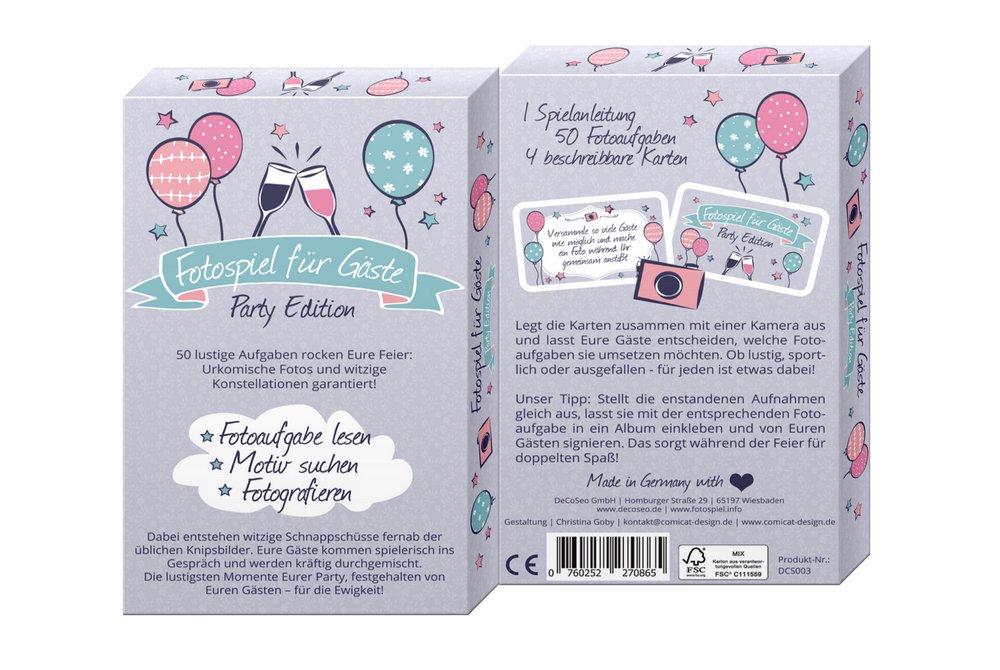 Party Kartenbox mit 50 Aufgaben