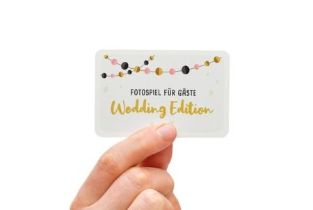 Fotospiel snaPmee Hochzeitsdedition Spielkarte Vorderseite