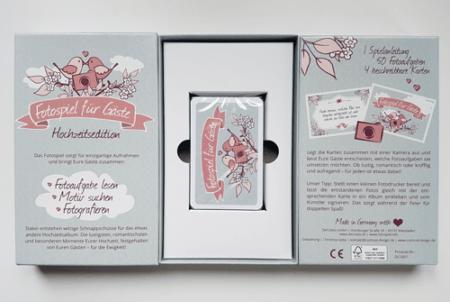 Kartenbox mit 50 Fotoaufgaben - Vorderseite | Innen | Rückseite
