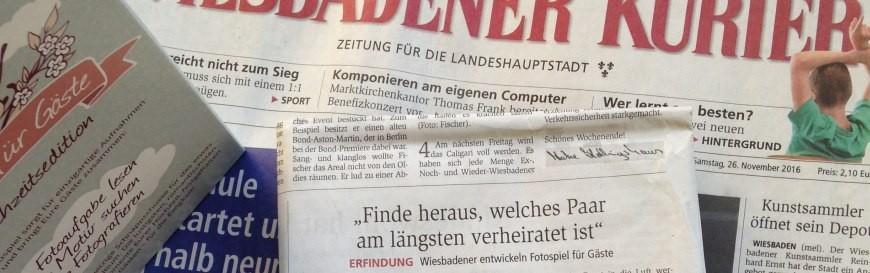 Zeitungsartikel des Wiesbadener Kuriers über fotospiel.info