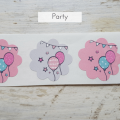 Etiketten für Partys
