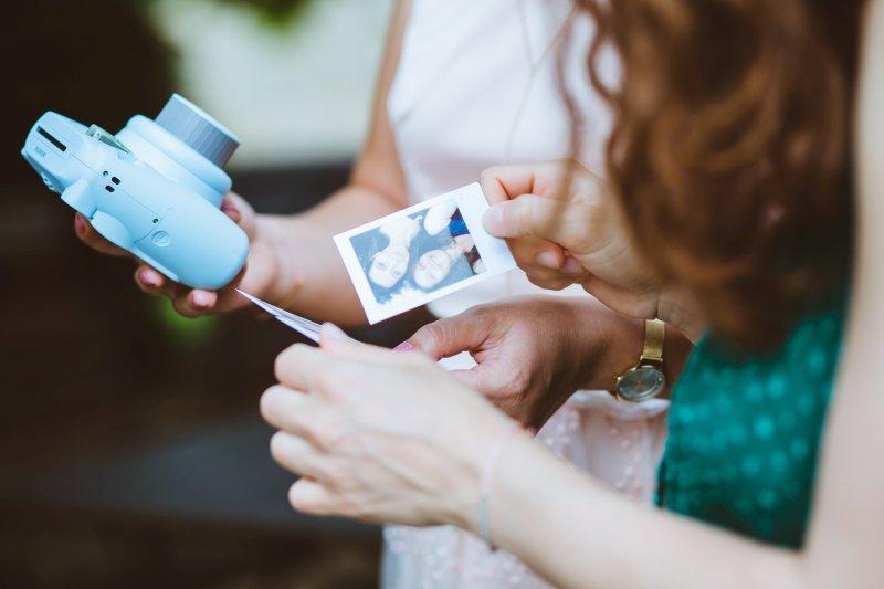 Polaroid Fotos auf einer Feier