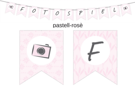 Wimpelkette pastell rose