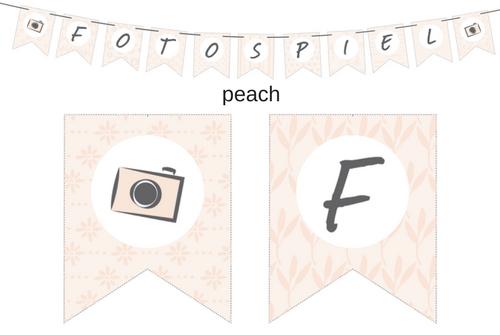 Wimpelkette peach