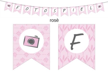 Wimpelkette rosè