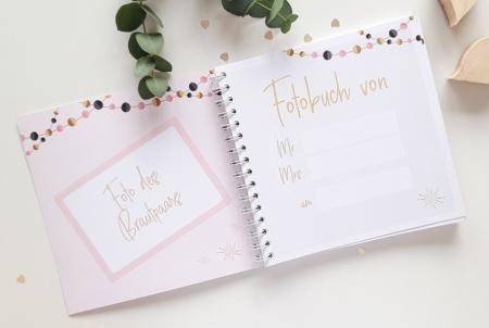 Personalisierbares Fotobuch für Hochzeitsfeiern