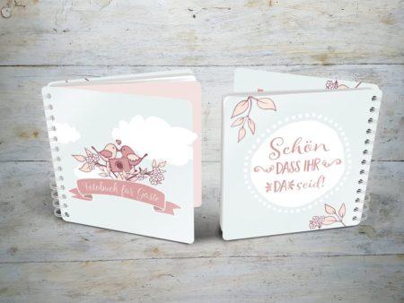 Fotobuch für Gäste Hochzeit Cover & Rückseite