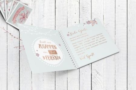 Das Buch enthält einen schönen Begrüßungstext für die Gäste