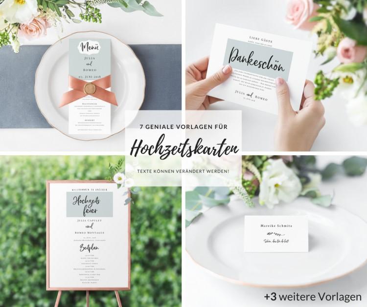 Hochzeitskarten Vorlagen