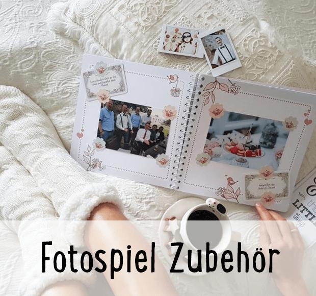 Fotospiel Zubehör - zu sehen ist das Fotobuch für Gäste