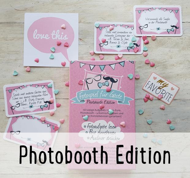 Photobooth Edition Kartenbox für Hochzeiten mit witzigen Fotoaufgaben