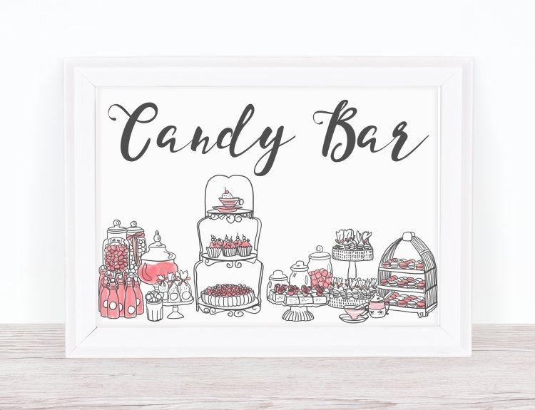 Candy Bar Schild