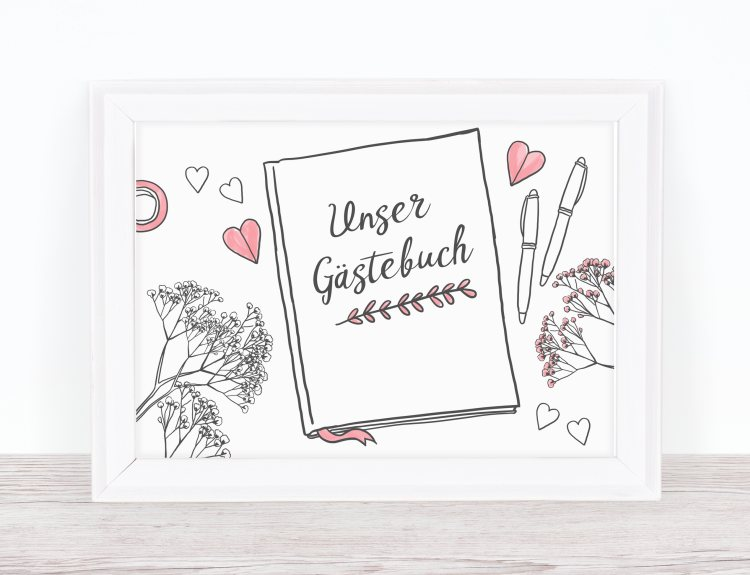 Gästebuch Schild