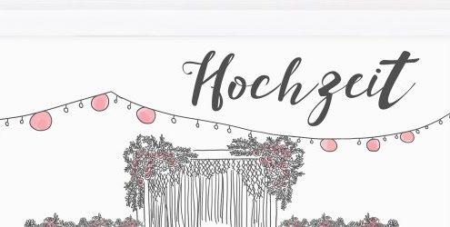 Prints: 10 handgemalte Schilder für eine noch schönere Hochzeits- und Partydeko