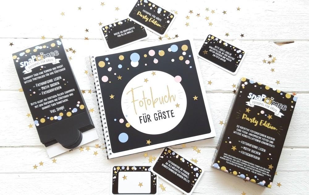 Sparpaket Party mit Box, Fotobuch & Tischaufstellern