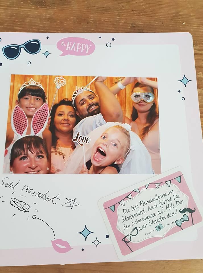 Photobooth Aufgabe mit 4 Jahreszeiten