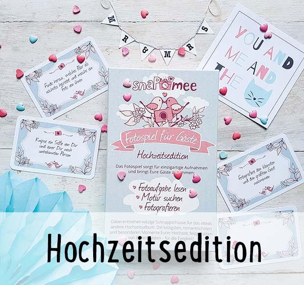 snaPmee Fotospiel Hochzeitsedition