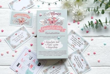snaPmee Fotospiel Hochzeitsedition Kartenbox