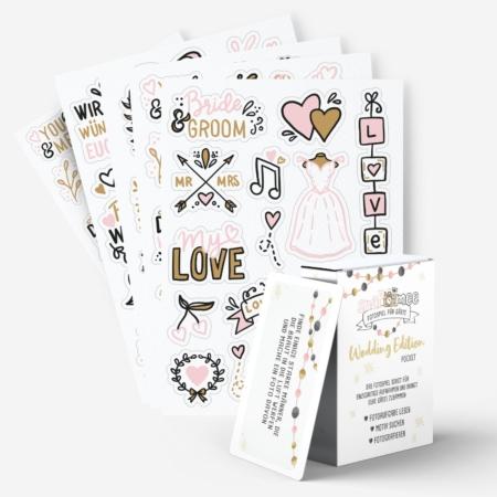 Pocket Edition Hochzeit & Sticker im Set