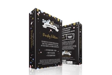 Fotospiel SnaPmee Kartenbox Party Black Edition